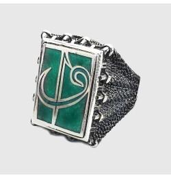 Elif Vav Mineli Gümüş Yüzük 16,4gr