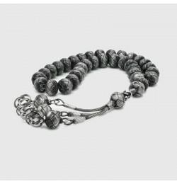 Gümüş kazazlı | Gümüş Tesbih | Gümüş Tesbih Modelleri |14 mm