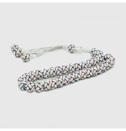 Gümüş Tesbih 1000 ayar gümüş püsküllü | Gümüş Tesbihler | 9mm |