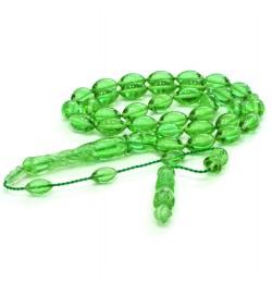 Bakalite Kehribarı Tesbih yeşil Arpa 8x13mm